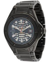 Roberto Cavalli スケルトン 42mm 腕時計 - ブラック