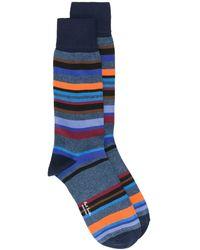 Paul Smith ストライプ靴下 - ブルー
