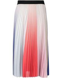 Karl Lagerfeld Плиссированная Юбка С Принтом - Розовый
