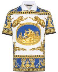Versace - 'Classic Scene' Poloshirt - Lyst