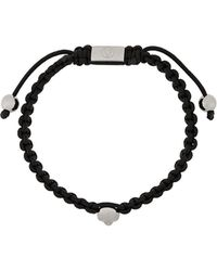 Northskull Atticus Skull Macramé Bracelet - Zwart