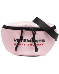 Vetements ロゴ ジップ ベルトバッグ - ピンク