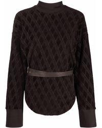 The Attico ベルベット スウェットシャツ - ブラウン
