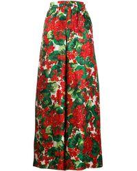 Dolce & Gabbana シルクツイル パラッツォパンツ - レッド