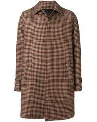 Prada - Concealed Front Coat - Lyst