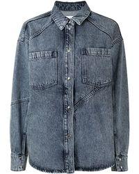 IRO オーバーサイズ デニムシャツ - ブルー