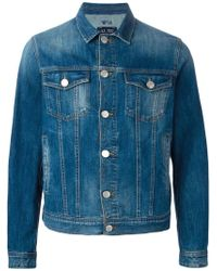 Armani Jeans - Stone Washed Denim Jacket - Lyst