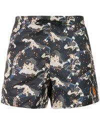 Marcelo Burlon - Camouflage Swim Shorts - Lyst