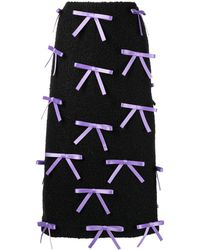 Ashley Williams Bow-detail Pencil Skirt - Black