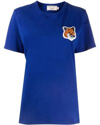 Maison Kitsuné - ロゴパッチ Tシャツ - Lyst