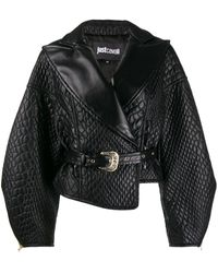 c780f0001 Quilted Faux Leather Jacket - Black