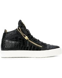 Giuseppe Zanotti - Crocodile Embossed Kriss Sneakers - Lyst