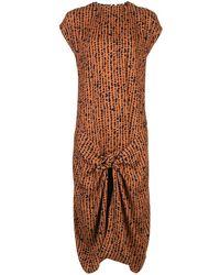 PROENZA SCHOULER WHITE LABEL Платье С Абстрактным Принтом - Оранжевый