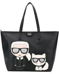 Karl Lagerfeld K/ikonik Shopper Draagtas - Zwart