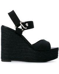 Versace Wedge Sandals - Black