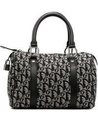 Dior - Мини-сумка Boston Pre-owned С Узором Trotter - Lyst
