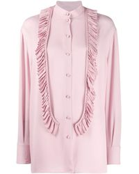 Valentino Ruffle Front Blouse - Roze