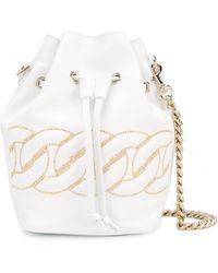 Casadei Chunky Chain Bucket Bag - White