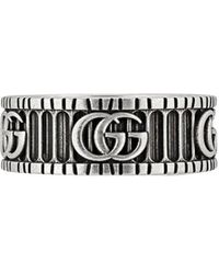 Gucci GG Marmont Silver Ring - Metallic