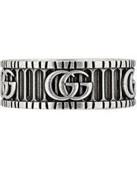 Gucci Ring mit GG-Motiv - Mettallic