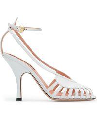 Rochas Cut-out Sandals - White