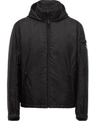 Prada フーデッドパデッドジャケット - ブラック