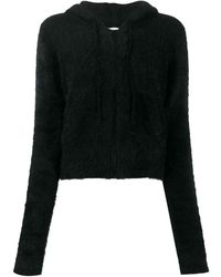 Pinko Куртка Из Искусственного Меха С Капюшоном - Черный