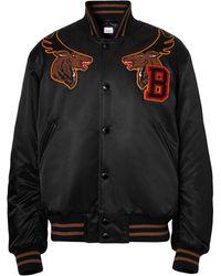 Burberry サテン ボンバージャケット - ブラック