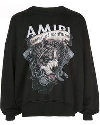 Amiri プリント スウェットシャツ - ブラック
