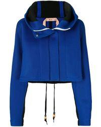 N°21 Укороченная Сетчатая Куртка - Синий