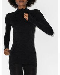 FALKE Tech Long Sleeve Zip Top - Black