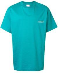 WOOYOUNGMI オーバーサイズ ロゴ Tシャツ - ブルー