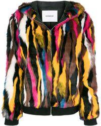 Dondup - Patterned Faux Fur Jacket - Lyst