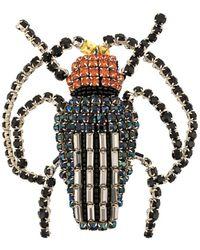 Rochas Beetle Brooch - Black