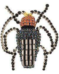 Rochas Broche con diseño de escarabajo - Negro