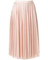 Karl Lagerfeld | Georgette Pleat Skirt | Lyst