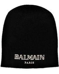 Balmain Bonnet en cachemire - Noir