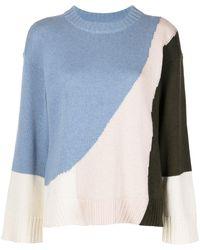 Apiece Apart Maglione con design color-block Shasta - Blu