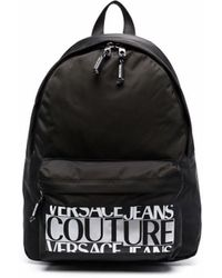 Versace Jeans Couture Logo-print Zipped Backpack - Black