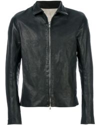 A Diciannoveventitre - Slim-fit Leather Jacket - Lyst