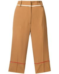 N°21 - Side-striped Tailored Shorts - Lyst