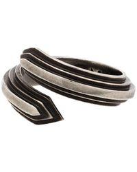 M. Cohen Equinox Bypass Wrap-around Ring - Metallic
