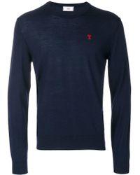 AMI Ami De Coeur Crewneck Sweater - Blauw