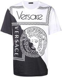 Versace Two Tone Medusa T-shirt - White
