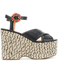 Marc Jacobs Rowan Espadrille Wedges - Черный