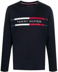 Tommy Hilfiger ロゴ ロングtシャツ - ブルー