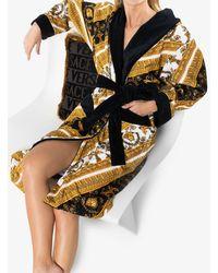 Versace Халат С Принтом I Heart Baroque - Черный