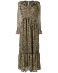 Liu Jo - Leopard Tiered Maxi Dress - Lyst