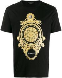 Versace T-shirt à imprimé baroque - Noir