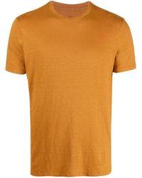 Altea リネンブレンド Tシャツ - オレンジ